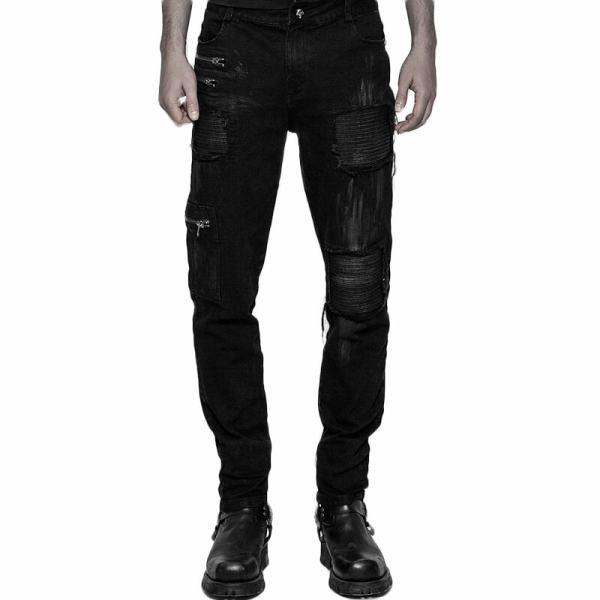 Punk Decadent Hole-breaking Men's Trousers