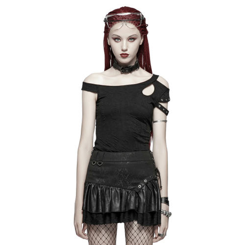 Punk  Daily Short Sleeve Slim fit Women's T-shirt