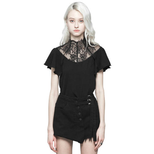 Gothic lace temperament Short Sleeve Women's T-shirt