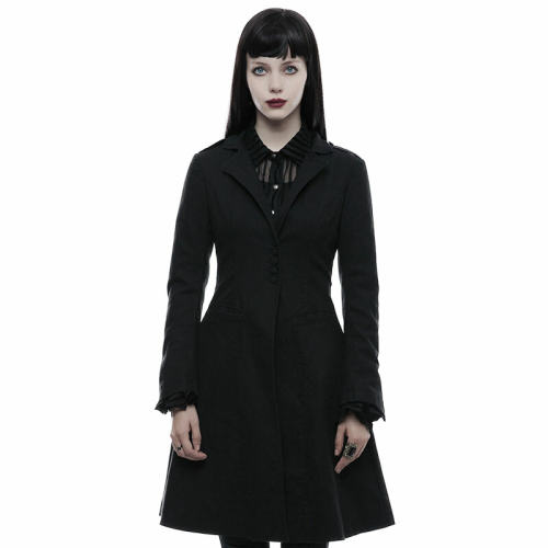 Punk casual Women's jackets Black