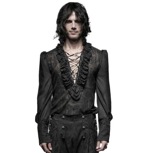 Gorgeous Gothic bubble men's blouse