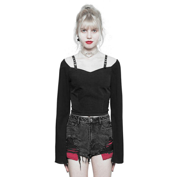 Punk Chiffon breathable comfortable Women's T-shirt