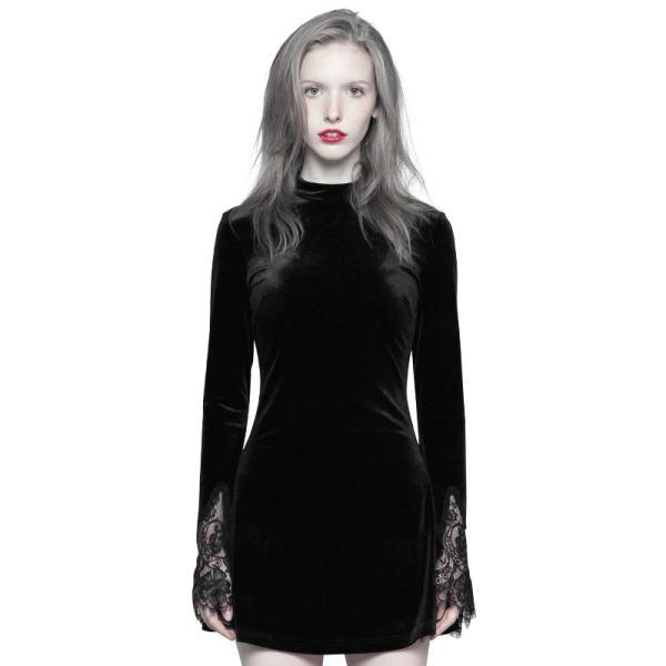 Punk Dark lace Stitching A Pendulum Women's Dress
