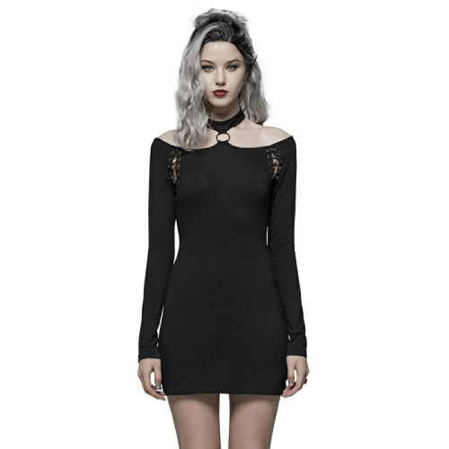 Punk Over Hip Long Sleeve Women's Dress