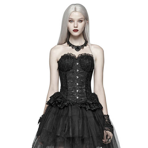 Pyon Pyon_Lolita Black Elf Women's Corset Black