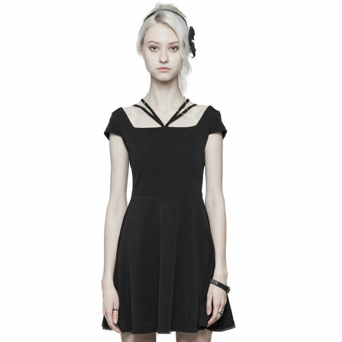 Punk Lace Stitching Cover Sleeve Dress