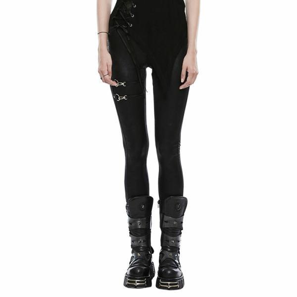 Punk Women's Black Leggings