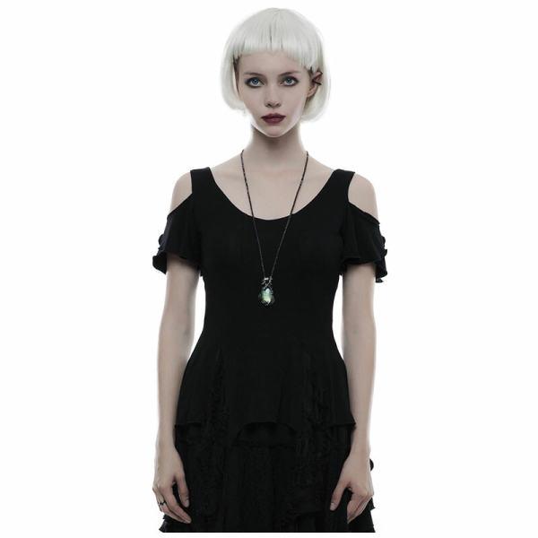 Gothic elegant short sleeves Women's T-shirt