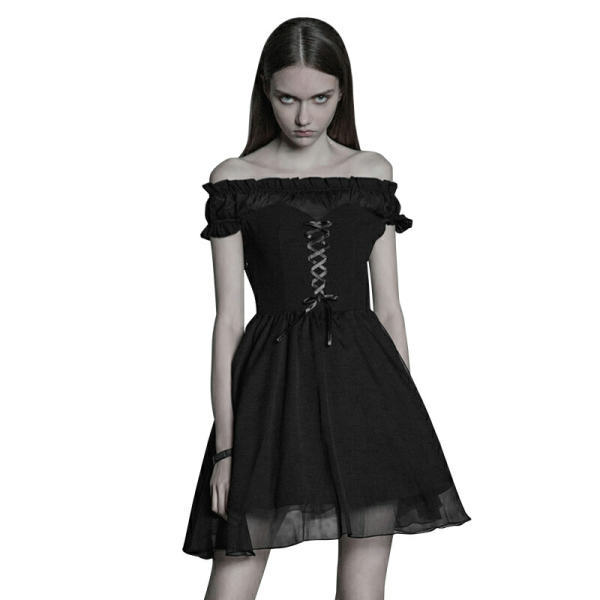 Lolita Off Shoulder Bandage Women's silk knit Dress