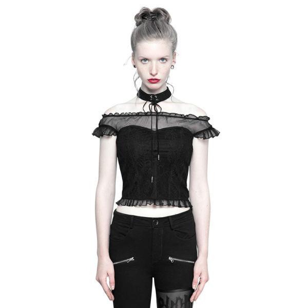 Gothic Off Shoulder Lace Tops Women's T-Shirt