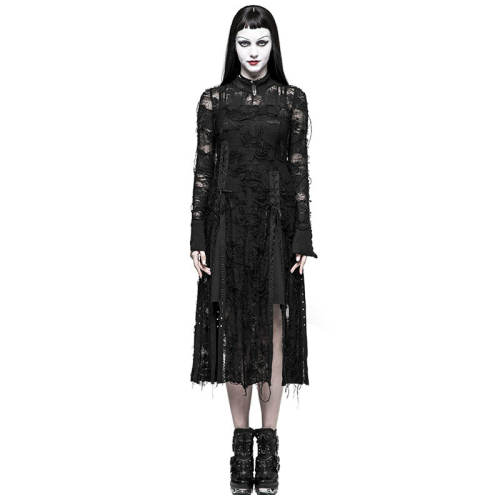 Gothic Retro Lace women's Rope Dress