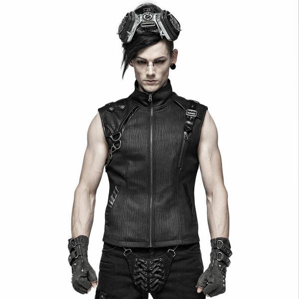 Handsome Punk men's dark-textured Vest