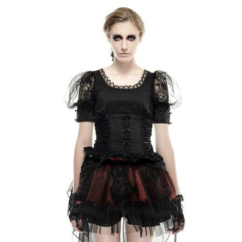 Lolita Black Pastoral Style Women's T-Shirts