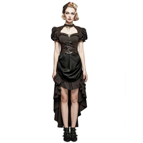 Steam Punk burn-out gear shape women's dress