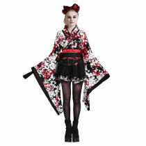 Lolita Short Sleeve Knee-Length Cute Kimono Dress For Girls