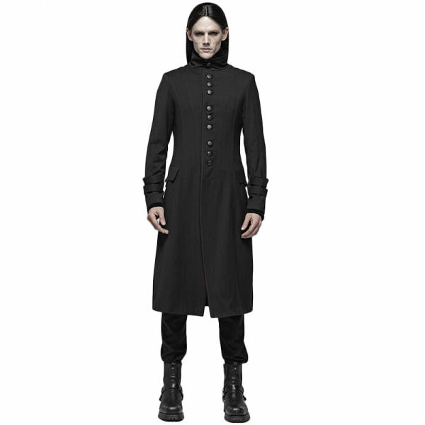 Simple Gothic Mid-length Men's Jacket