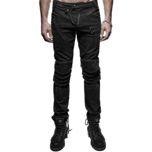 Punk armor knee man jeans