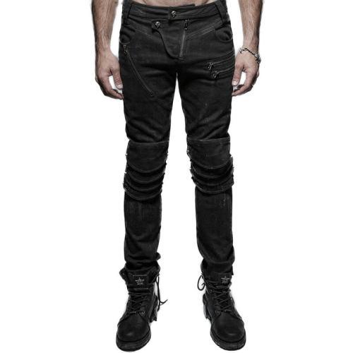 Punk armor knee man jeans