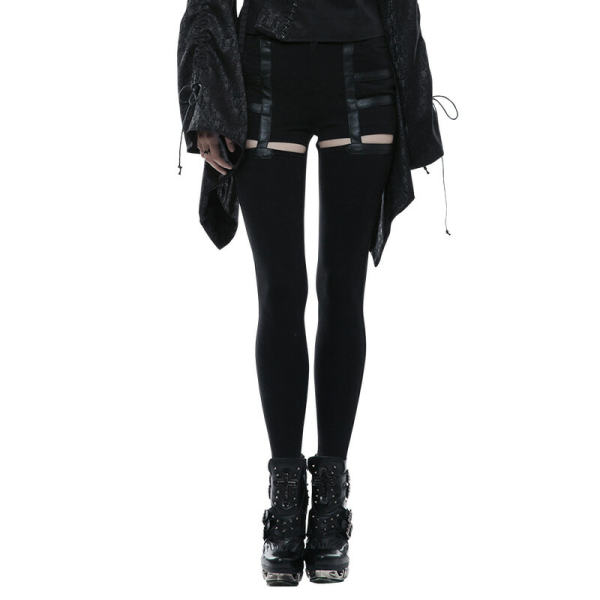 Daily Punk Hollow-out Stretch Women's Pants