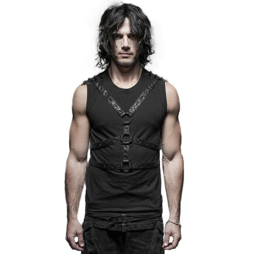Punk sleeveless men's vest