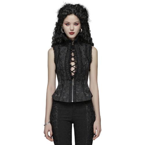 Lolita gorgeous jacquard fabric Women's Waistcoat