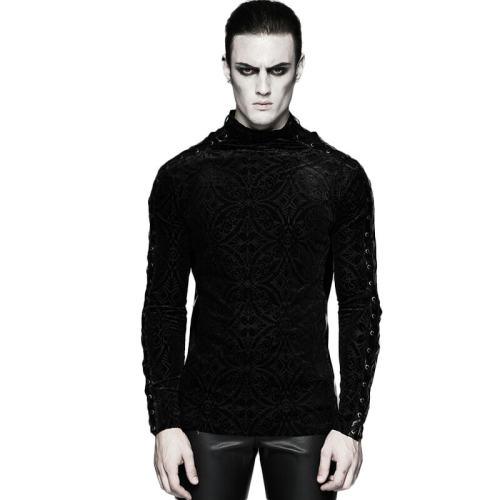 Gorgeous Gothic Long Sleeve Men's T-shirt Black