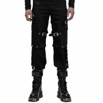 Gothic Men's icro-elastic embossing  Trousers
