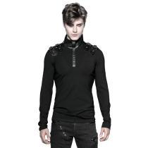 Punk Uniform Long-sleeved Men's T-shirt