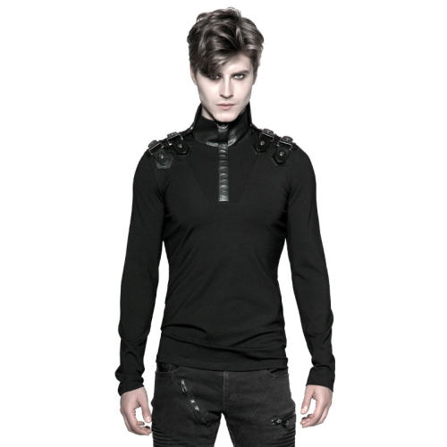 Punk Uniform Long-sleeved Men's T-shirt