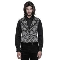 Gothic Jacquard rue pocket Men's Vest