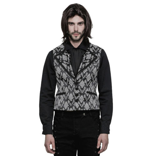 Gothic Jacquard rue pocket Men's Vest