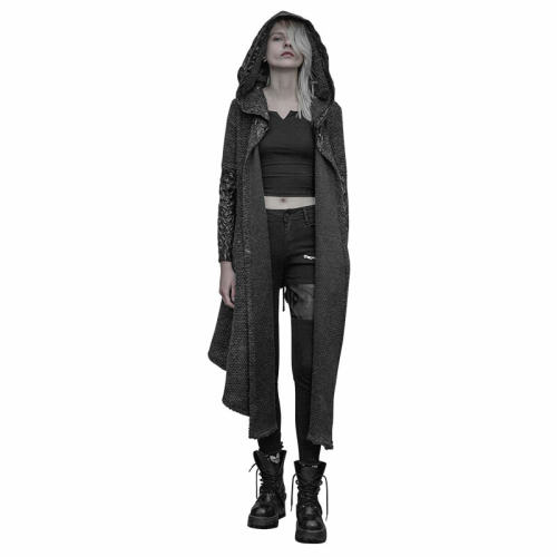 Gothic Women's Weird Medium long Cardigan Sweater Coat