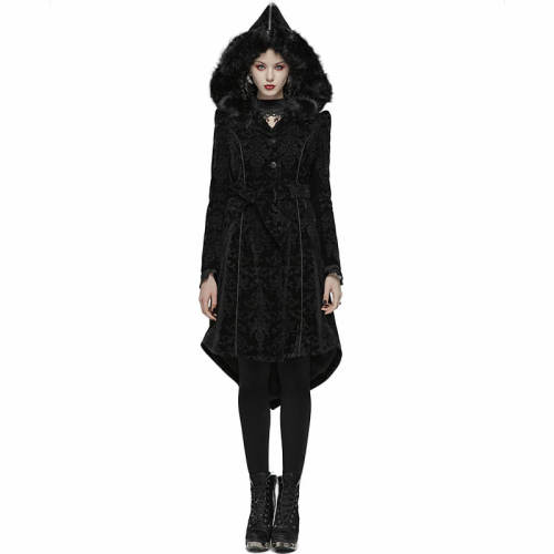 Gothic Pattern Medium Women's Long Coat