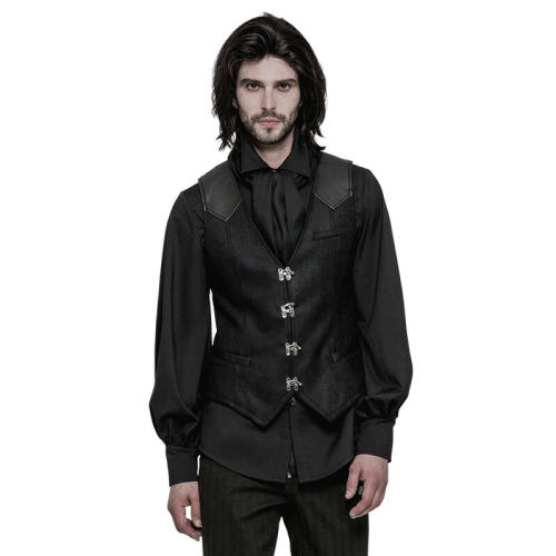 Steam Punk heavy twilled woven Men's Waistcoat