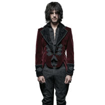 Gothic gentle with scissors tail  men's jacket