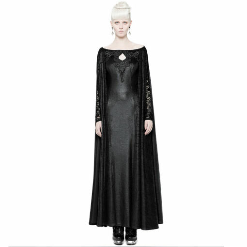 Domineering Gothic Dress with Cape