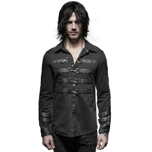 Punk lock decoration men's blouse
