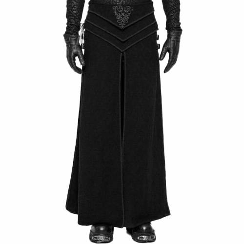 Gothic Retro Jacquard Men's black Skirt
