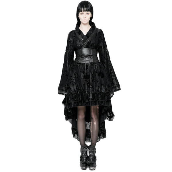 Lolita Flocking Printing Kimono women's Dress