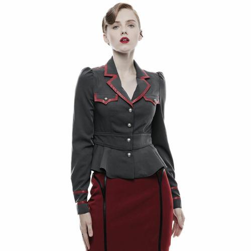 Punk Military uniform long sleeve Women's Shirt