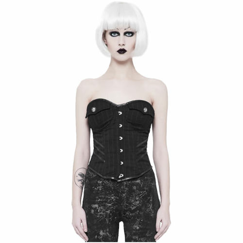 Punk Military Uniform Striped women's Corset