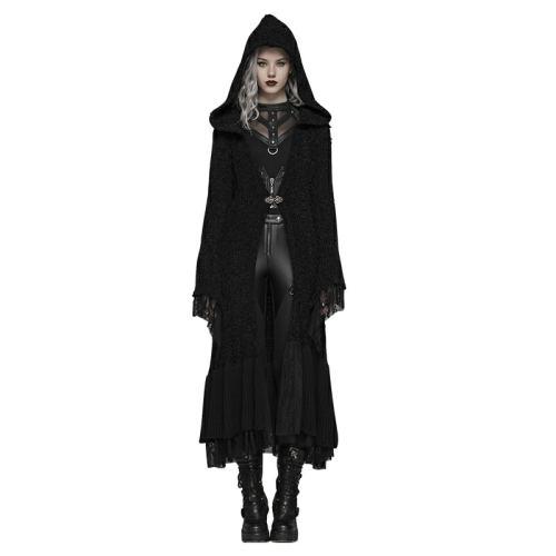 Gothic Thickened Woolen Cardigan