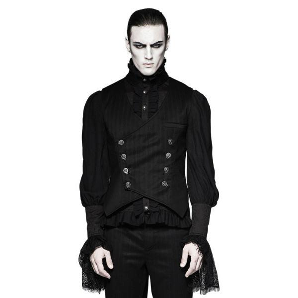 Gentleman Punk Stripe Chinese Style Buckle Men's Vest