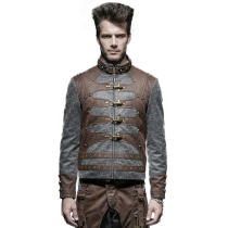 Steam punk men's short jacket