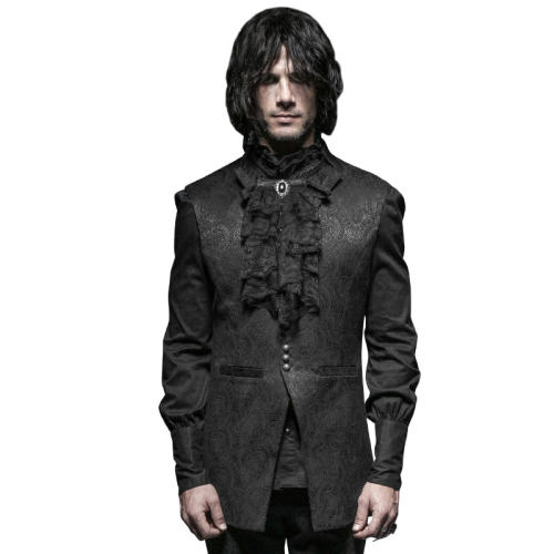 Gothic small stand-up collar Men's vest