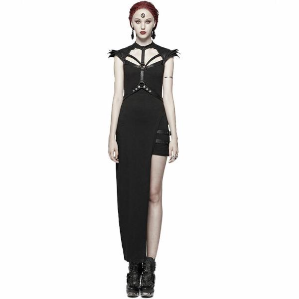 Punk Asymmetric Sexy women's Dress