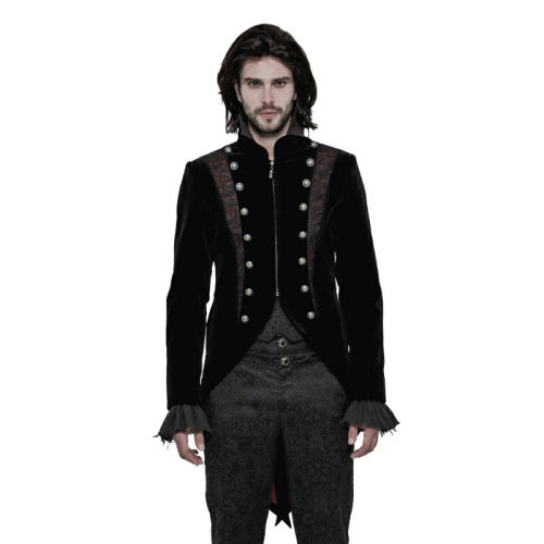 Gothic gorgeous Velveteen woven Short Men's Coat