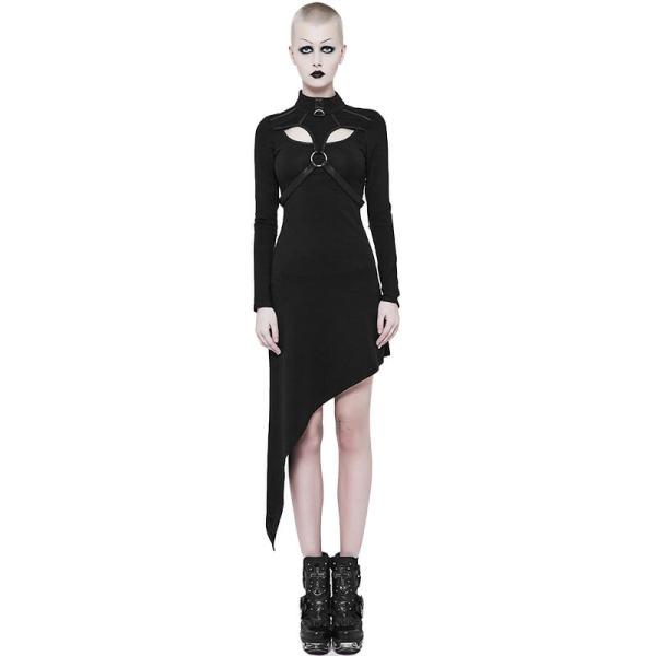 Punk Slant Hem Knit women's Dress