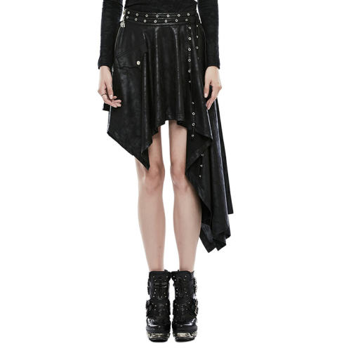 Punk Asymmetric comfortable printing women's Skirt