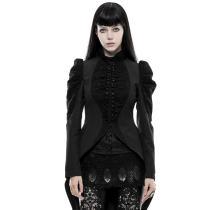 Gothic Gorgeous vintage women's long coat black